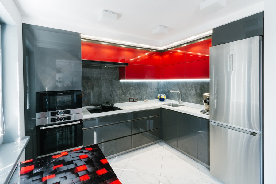 Встроенная кухня-Кухня из ЛДСП «Модель 414»-фото2