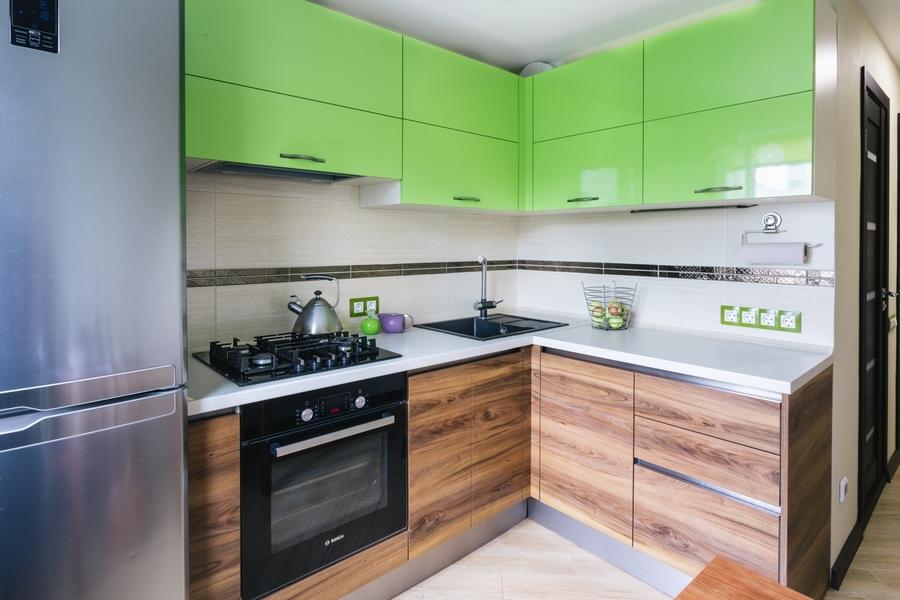 Глянцевые кухни-Кухня из ЛДСП «Модель 406»-фото1