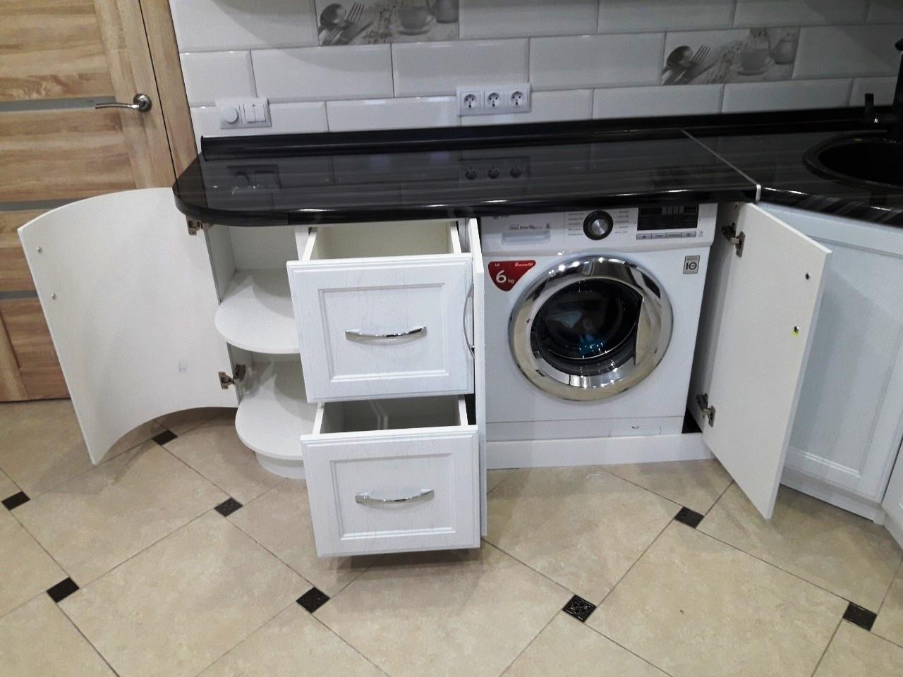 Белый кухонный гарнитур-Кухня МДФ в ПВХ «Модель 540»-фото9