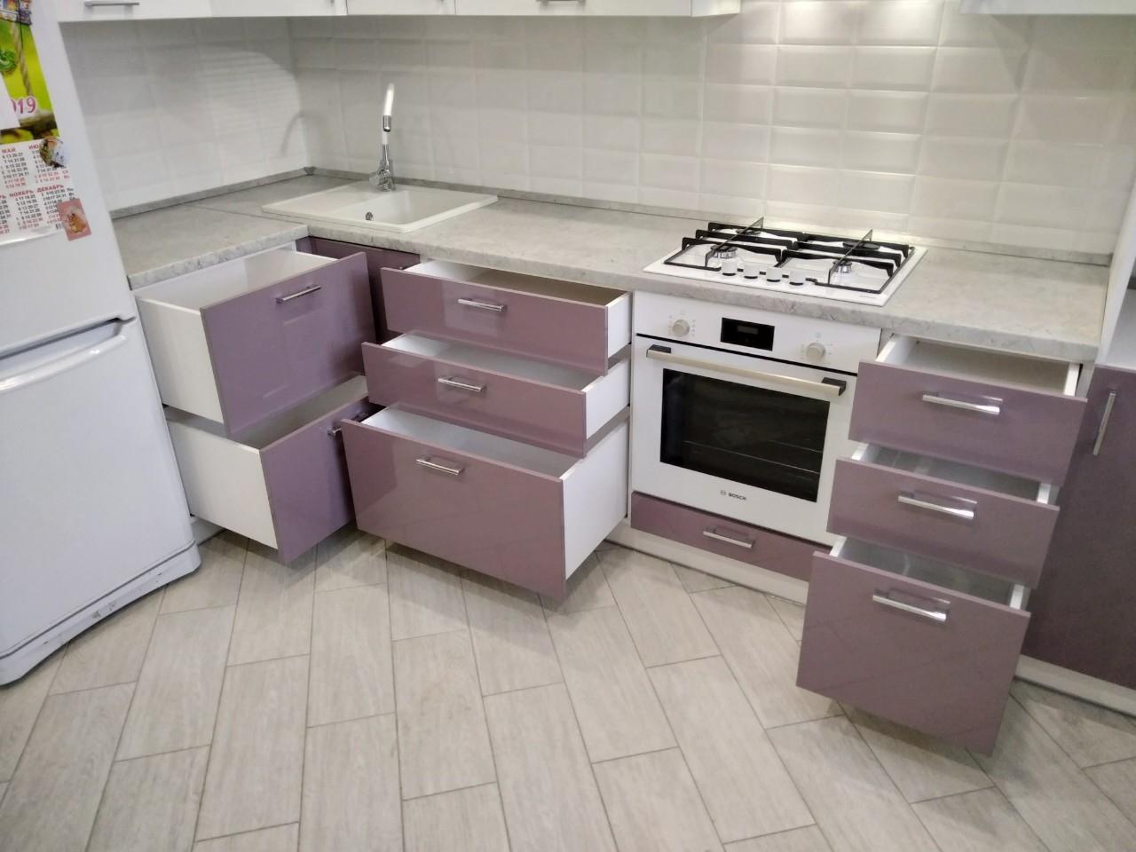 Белый кухонный гарнитур-Кухня МДФ в ПВХ «Модель 544»-фото7