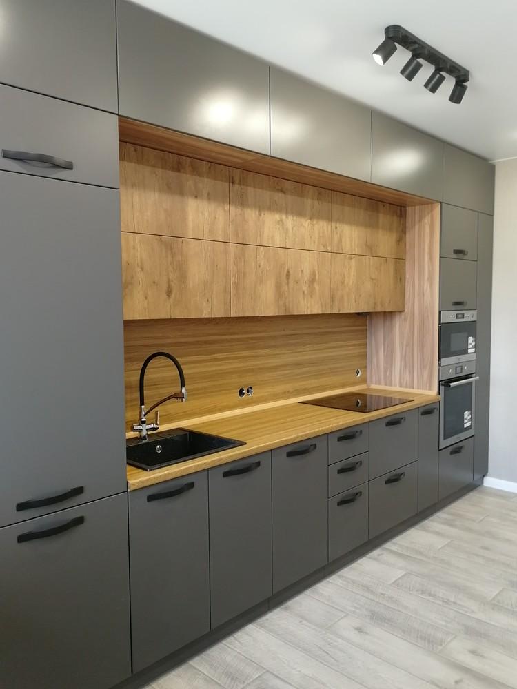 Встроенная кухня-Кухня МДФ в ПВХ «Модель 521»-фото2