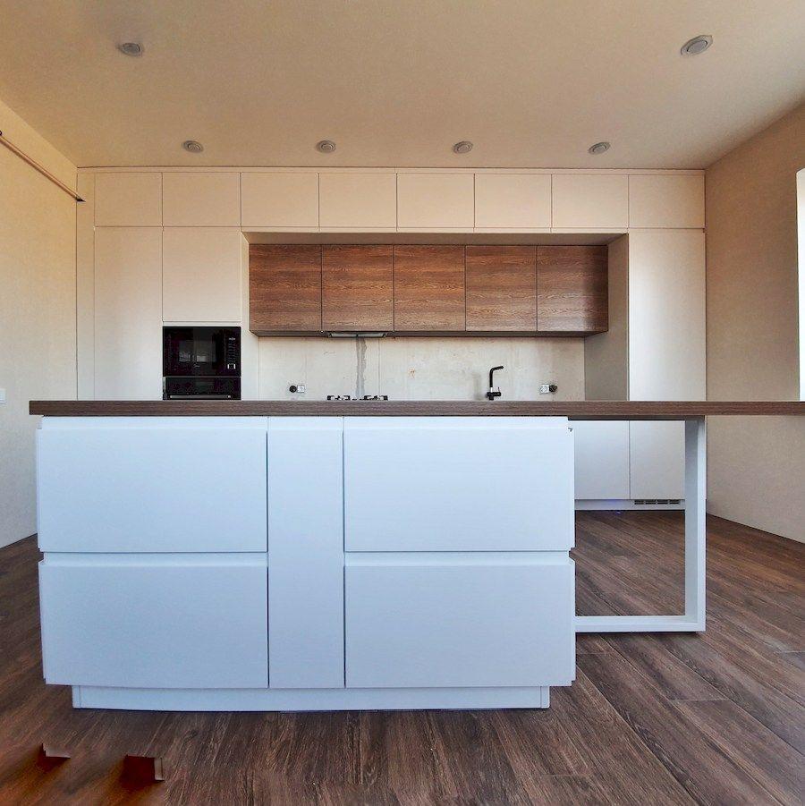 Белый кухонный гарнитур-Кухня МДФ в эмали «Модель 545»-фото5