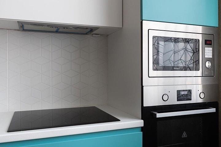 Белый кухонный гарнитур-Кухня МДФ в эмали «Модель 584»-фото4