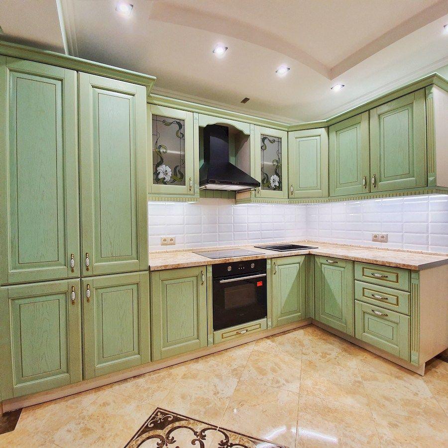 Классические кухни-Кухня из шпона «Модель 559»-фото1