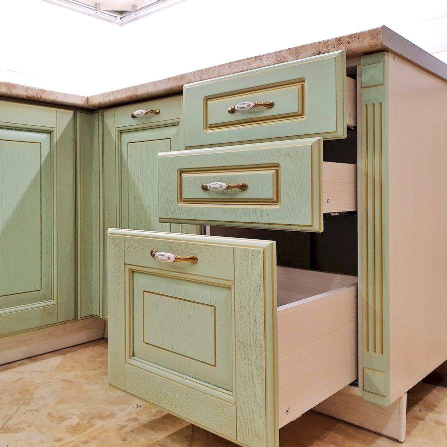 Классические кухни-Кухня из шпона «Модель 559»-фото6