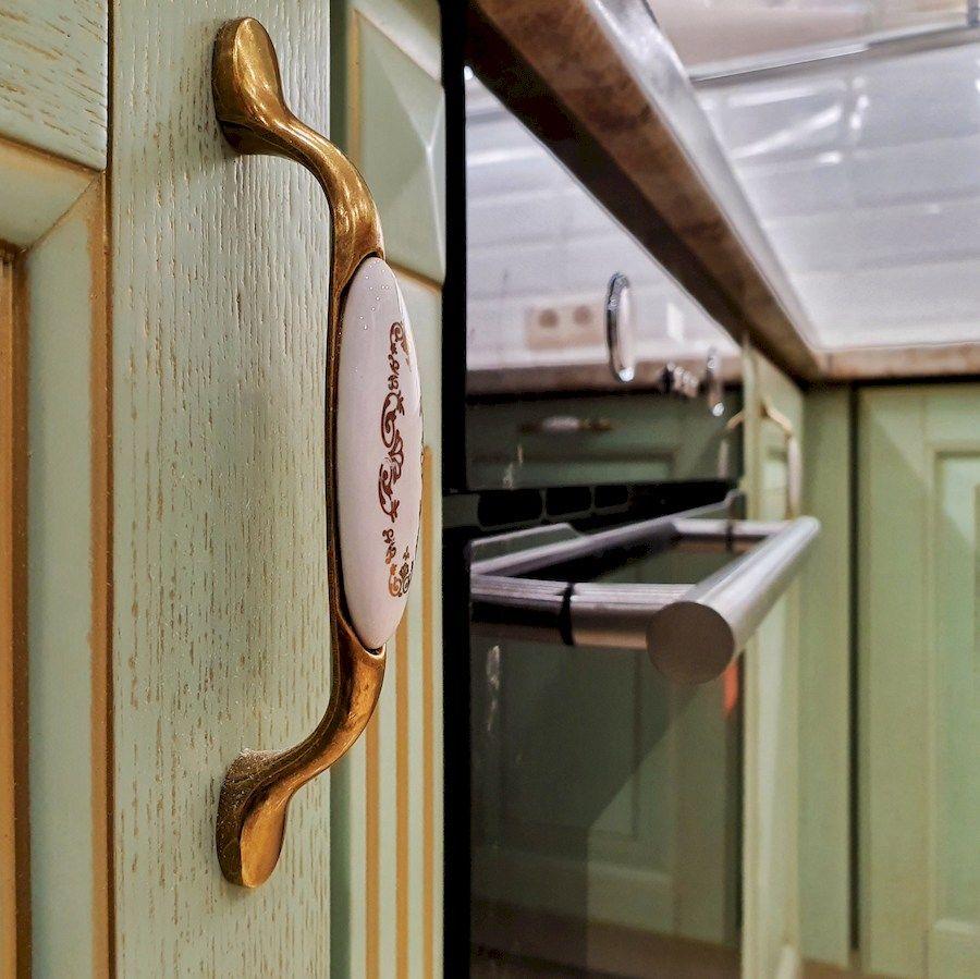 Классические кухни-Кухня из шпона «Модель 559»-фото9
