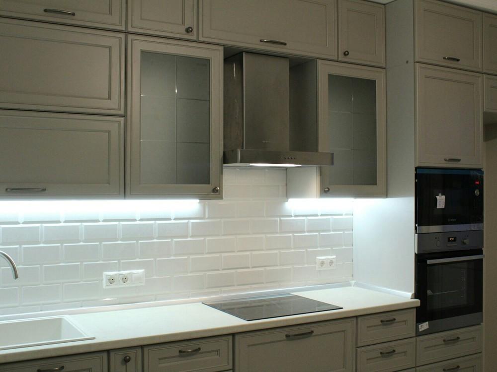 Встроенная кухня-Кухня МДФ в ПВХ «Модель 84»-фото3