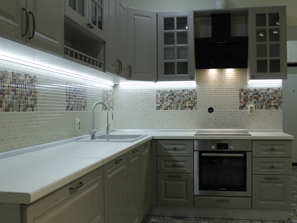 Встроенная кухня-Кухня из массива «Модель 157»-фото2