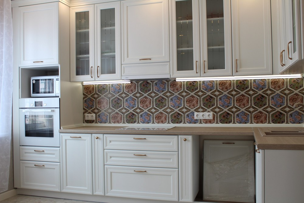 Акриловые кухни-Кухня из пластика «Модель 134»-фото1