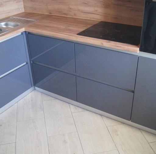 Белый кухонный гарнитур-Кухня МДФ в эмали «Модель 230»-фото7