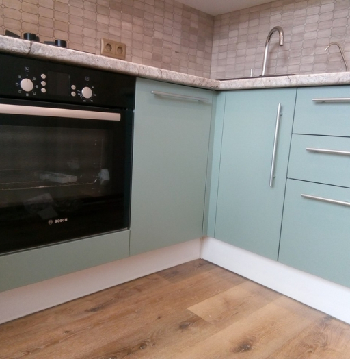 Белый кухонный гарнитур-Кухня МДФ в ПВХ «Модель 125»-фото4
