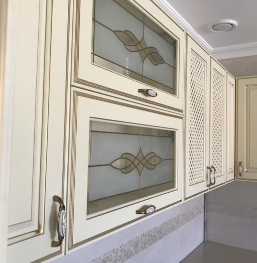 Белый кухонный гарнитур-Кухня МДФ в эмали «Модель 487»-фото13