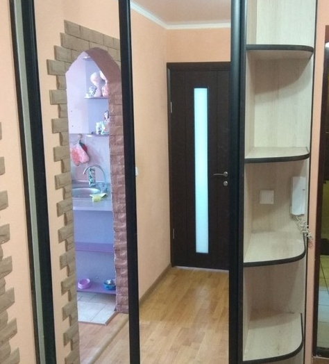 Бельевой шкаф-купе-Шкаф-купе с зеркалом «Модель 380»-фото2
