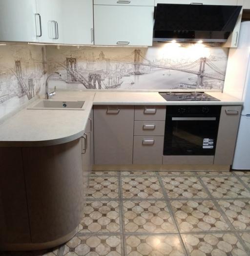 Белый кухонный гарнитур-Кухня МДФ в ПВХ «Модель 38»-фото4