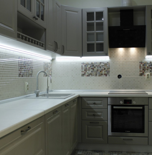 Встроенная кухня-Кухня из массива «Модель 157»-фото8