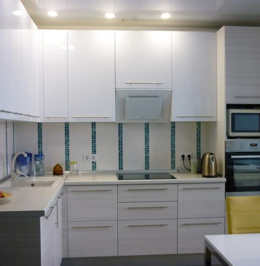 Белый кухонный гарнитур-Кухня МДФ в ПВХ «Модель 180»-фото8