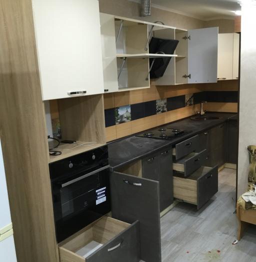 Белый кухонный гарнитур-Кухня МДФ в ПВХ «Модель 314»-фото7