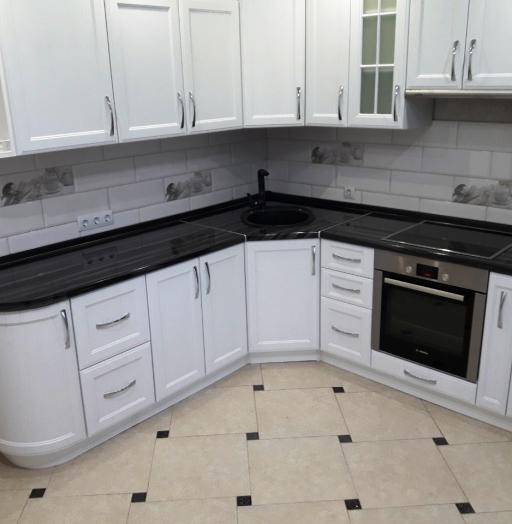Белый кухонный гарнитур-Кухня МДФ в ПВХ «Модель 540»-фото10