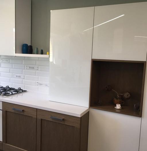 Белый кухонный гарнитур-Кухня из шпона «Модель 350»-фото2